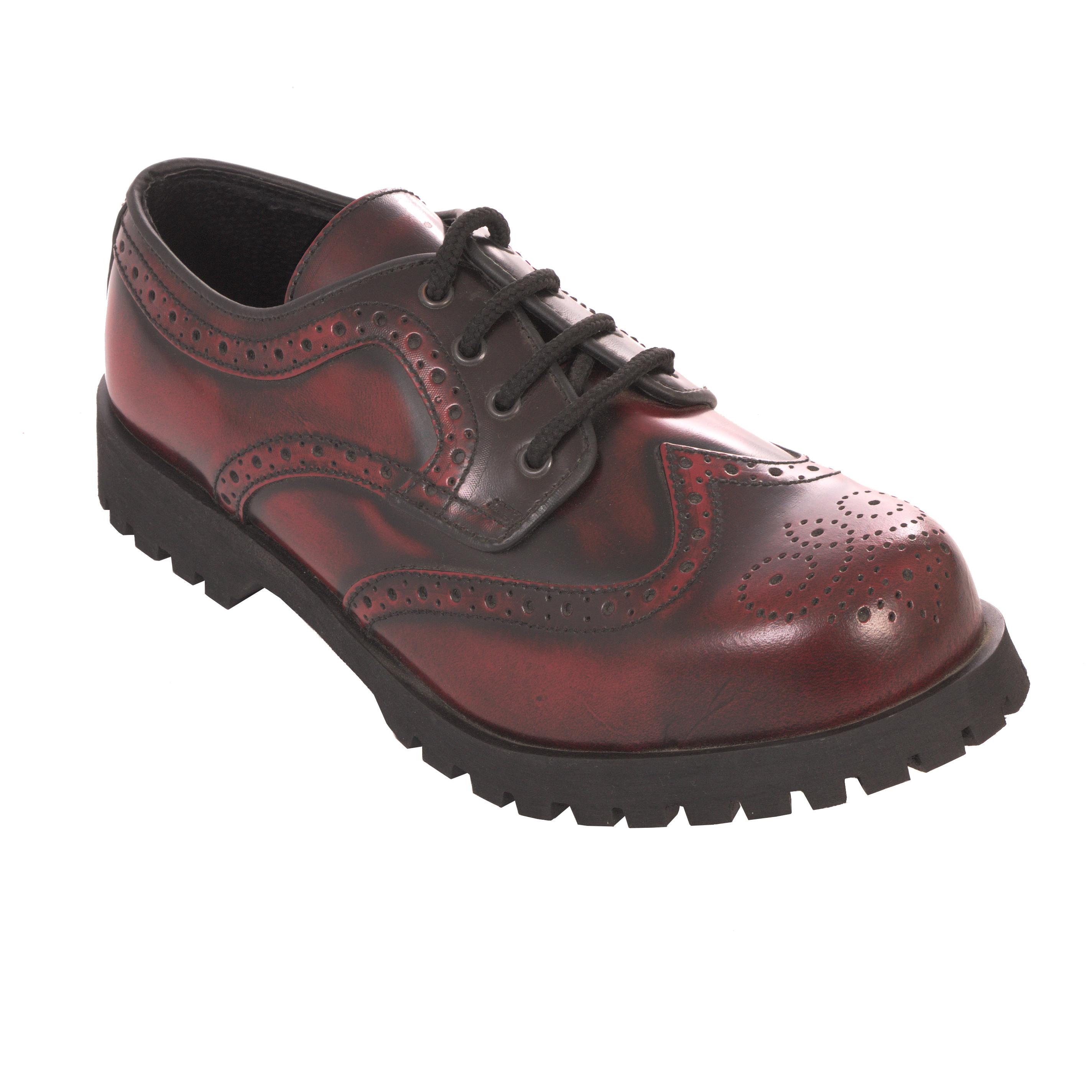 Boots /& Braces Halbschuh Budapester Rub Off-Stahlkappe-Herrenhalbschuh-Vintage