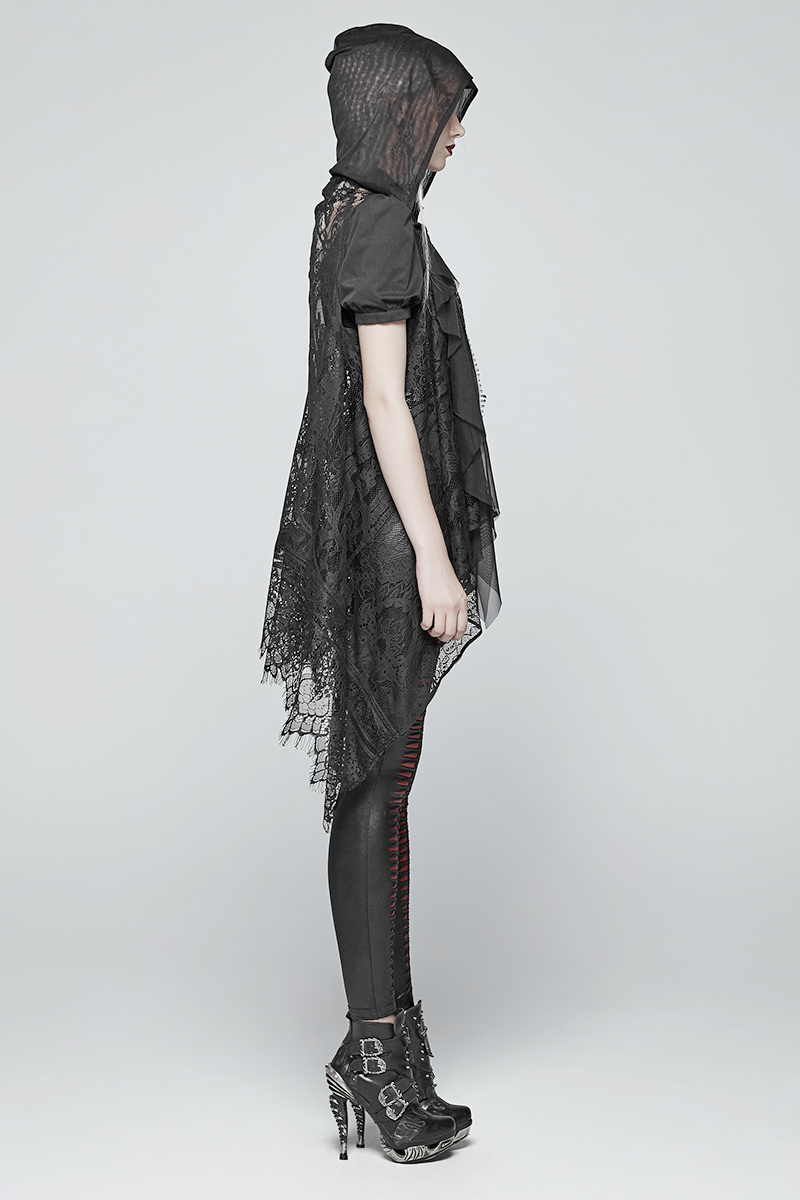 PUNK RAVE Damen Weste Schwarz V-Cut Gothic Steampunk Rockabella Waistcoat Black