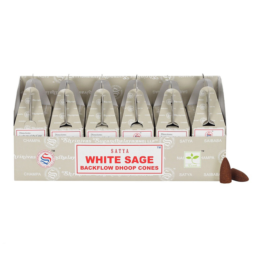 Räucherstäbchen Satya Agarbathi Düfte Duft Aroma Satya White Sage  3 x je 15g